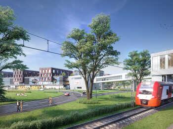 Соседство с железнодорожной станцией Крекшино